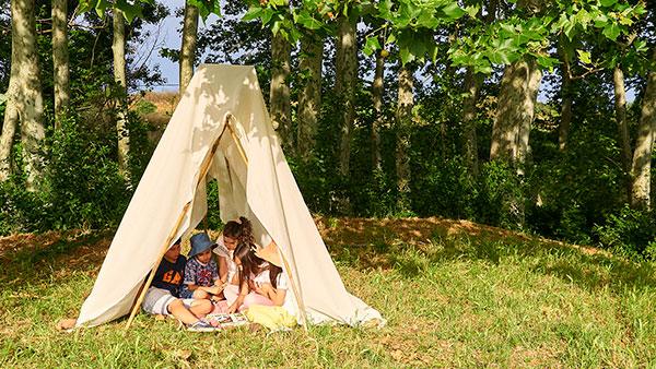Green emotions - Jugant fent acampada