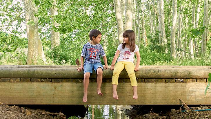 Green emotions - Nens a un pont
